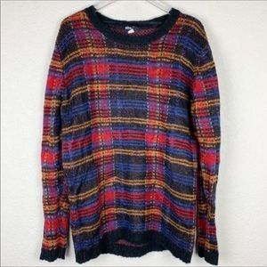 Urban Outfitters BDG Wool Plaid Sweater size L